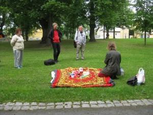Tiistaina 23.7. Jaakko Belt niin & näin -lehdestä saapui alustamaan aiheesta filosofia kansalaistaitona.